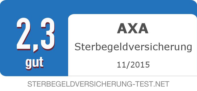 Testsiegel: AXA Sterbegeldversicherung width=