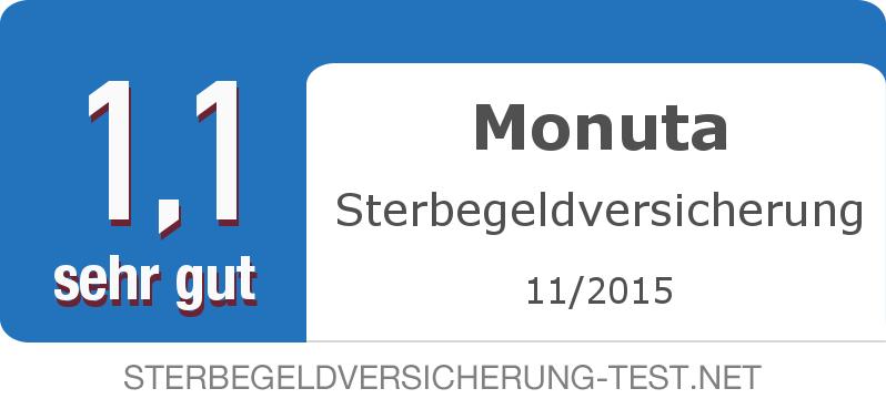 Testsiegel: Monuta Sterbegeldversicherung width=