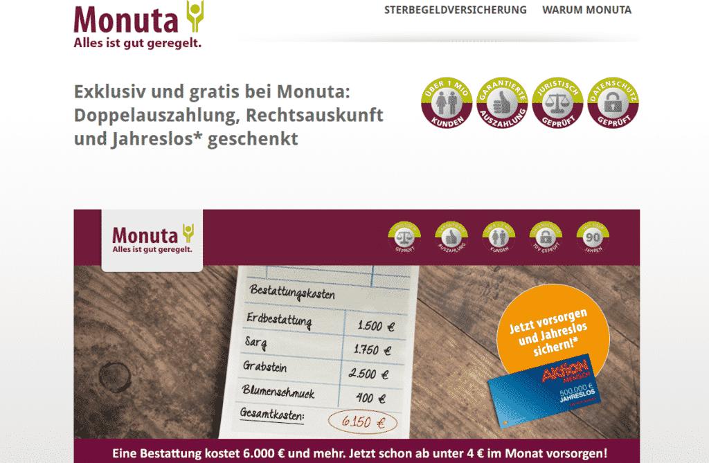 Monuta Webseite